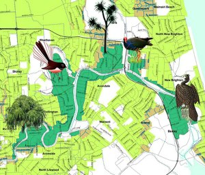 AvON River red zone map - Christchurch 2011